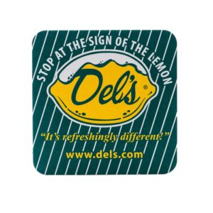 Del's Coaster (Front) - Del's Lemonade - Blueflash Photography