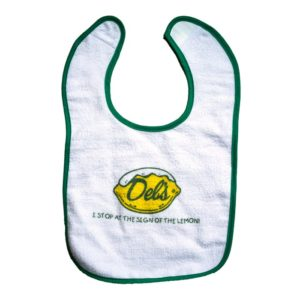 Stop at the sign of the lemon Del's bib