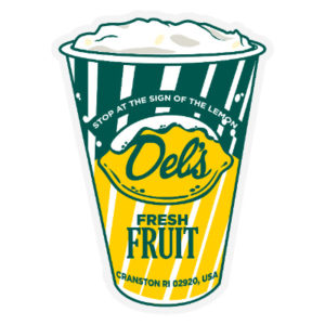 Del's Lemonade Cup Sticker